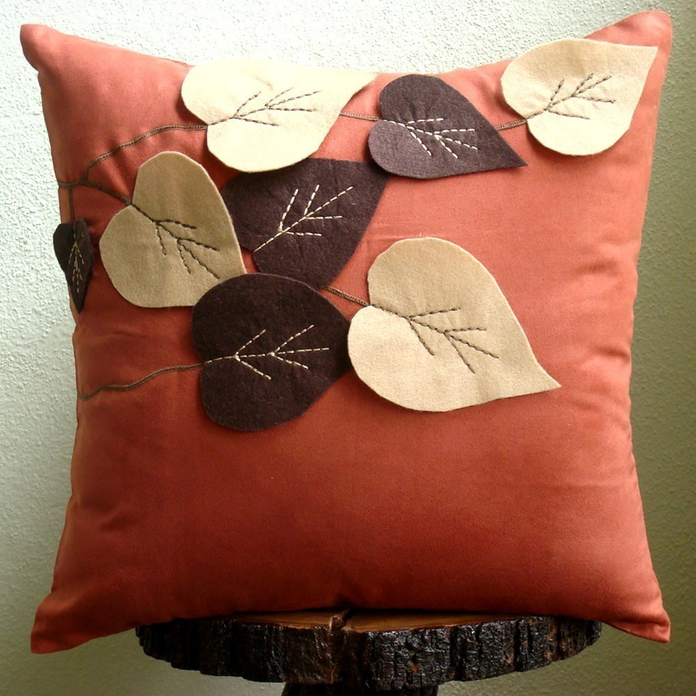 fall themed accent pillow