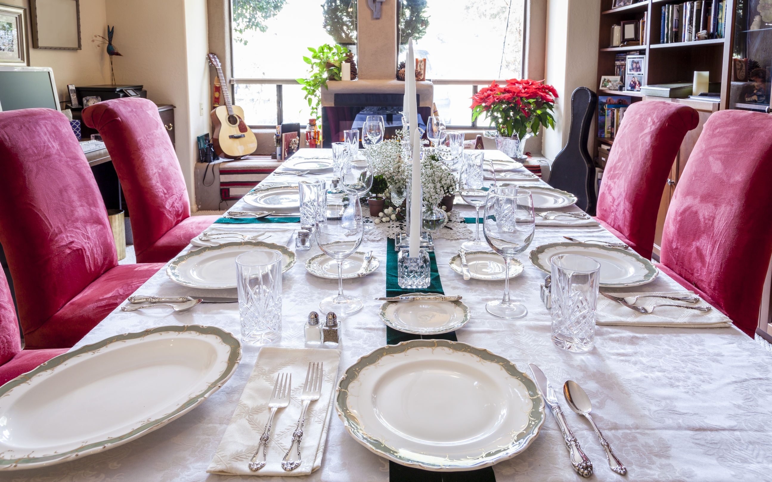 44961826 - dining table is set for a holiday dinner