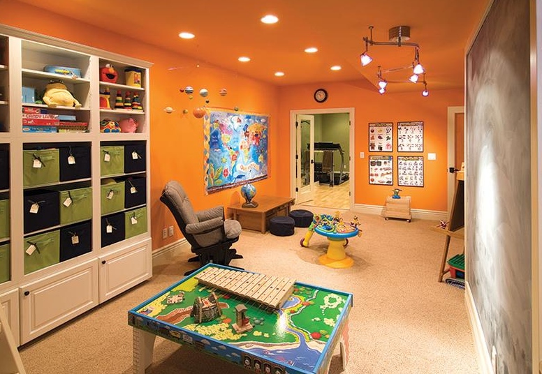orange basement