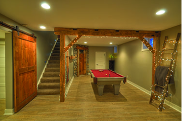 pea green basement