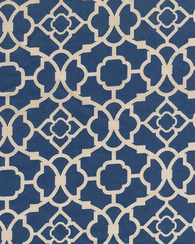 Waverly Lovely Lattice Blue Cotton Prints Fabric By The Yard