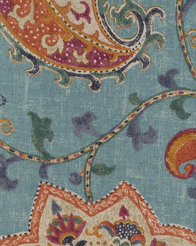 P Kaufman Soumak Persian Blue Cotton Prints Fabric By The Yard